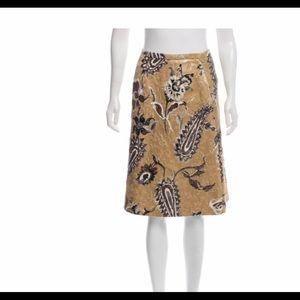 Piazza Sempione Metallic Brocade Skirt